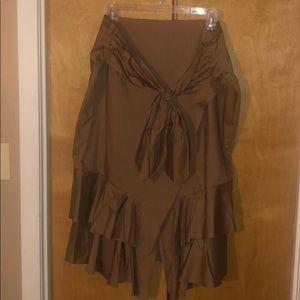 Worthington high waisted tan skirt